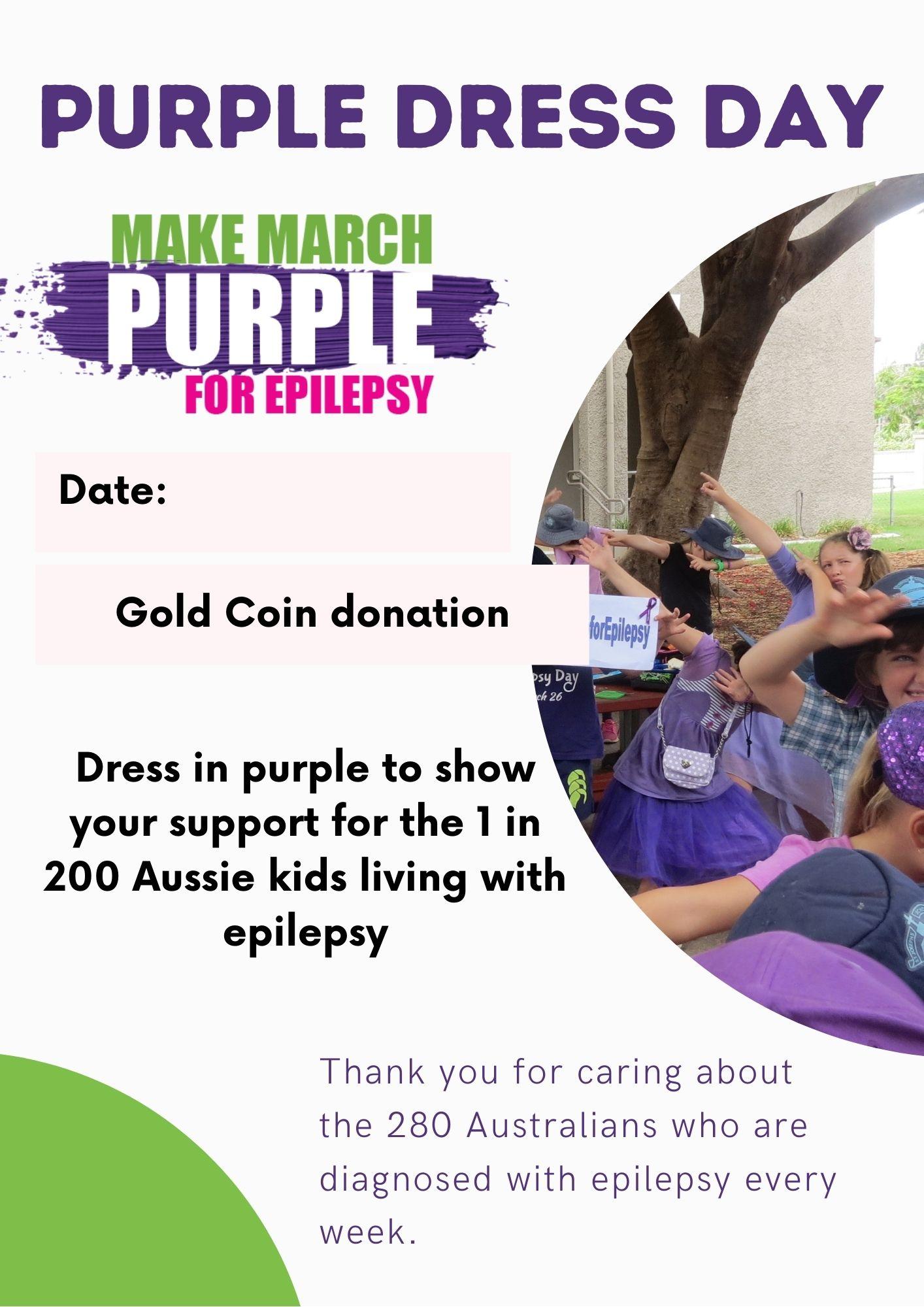 School Purple Dress Flyer